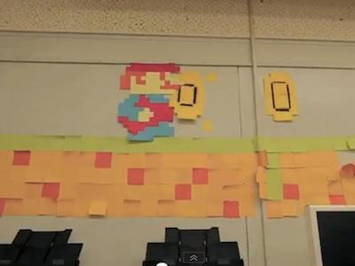 瑪琍歐實體化!用便利貼做的瑪琍歐遊戲動畫又來了