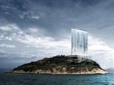 2016年巴西奧運概念建築,隱身在里約熱內盧的天空瀑布中