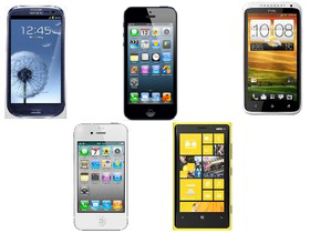 iPhone 5、Galaxy S3、One X、Lumia 920、iPhone 4S 規格比一比
