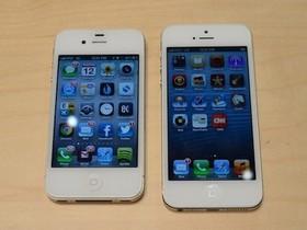 純看外表!iPhone 5 動手玩照片集,跟 iPhone 4S 放在一起亮相