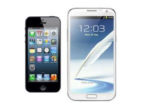 iPhone 5 對上 Galaxy Note 2,你挺哪一支?