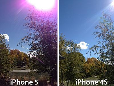Apple 出面解釋 iPhone 5 相機紫光現象,表示許多產品都有耀光問題