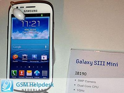 SAMSUNG GALAXY S3 Mini 搶先曝光!搭載 4 吋螢幕、雙核心處理器