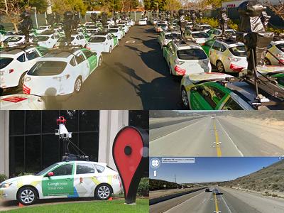 難能一見的 Google 街景車隊,第五代高畫質街景畫面就定位!
