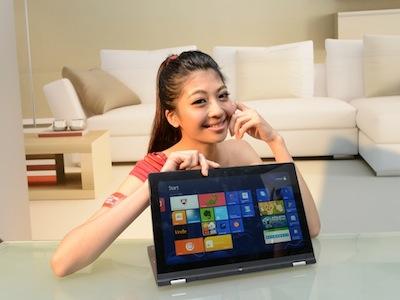 翻轉變平板,Lenovo IdeaPad Yoga 360 度折疊筆電軟Q登台