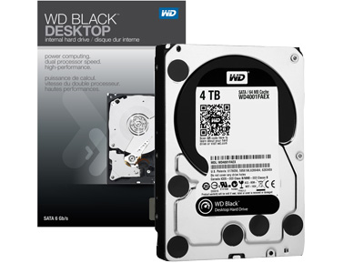 WD Black 4TB 高效能傳統硬碟上陣