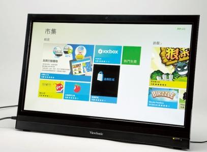ViewSonic VSD220:內建 Android 的觸控螢幕,不接主機也能單獨使用