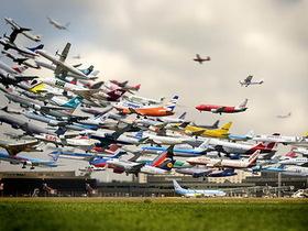 90架飛機同時起飛,縮時攝影過程大解密