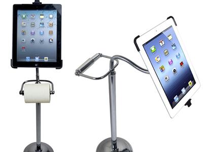 上大號邊用 iPad?試試衛生紙 iPad 支架,擦屁屁時不怕手沒空