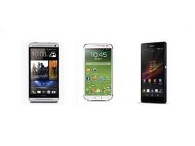 Samsung Galaxy S4、HTC One、Xperia Z 規格比一比