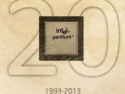 Intel Pentium 在 3月 22日過 20歲生日!Tick Tock 持續演進中