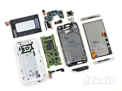 New HTC One 拆解,裡面到底有什麼?