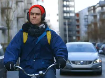 Volvo展出首套「自行車偵測防護」系統