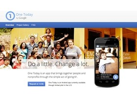 Google 推1美元社交慈善捐助應用程式「One Today」,想把慈善變成每天發生的事
