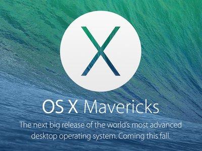 WWDC 2013:OS X Mavericks 現身,速度更快,功能更加全面