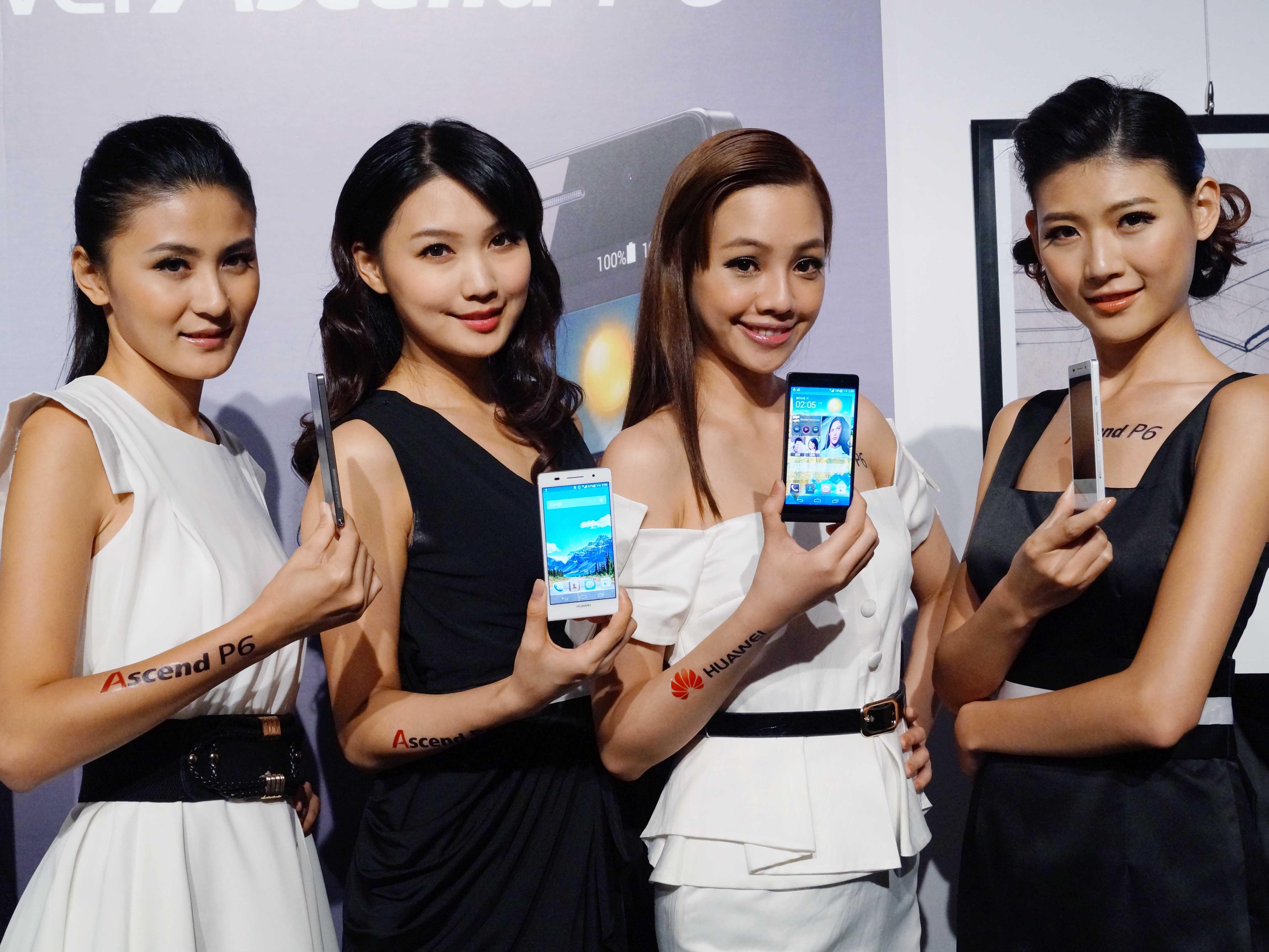 全球最薄 Huawei 旗艦 Ascend P6 台灣發表會現場小編動手試玩