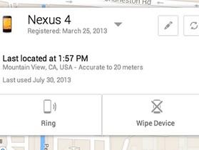 Google 終於推出 Android Device Manager設備丟失尋找 app 找回你的裝置