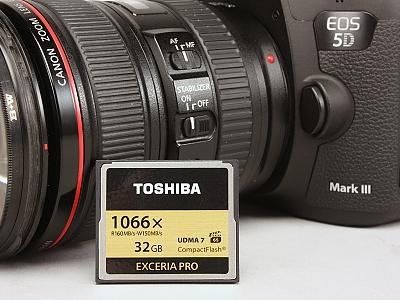 支援 4K 超高解析度錄影,Toshiba EXCERIA PRO 1066X CF 記憶卡實測