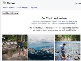 Facebook 測試共享相簿 Shared Photo Albums 功能,讓朋友一起上傳照片