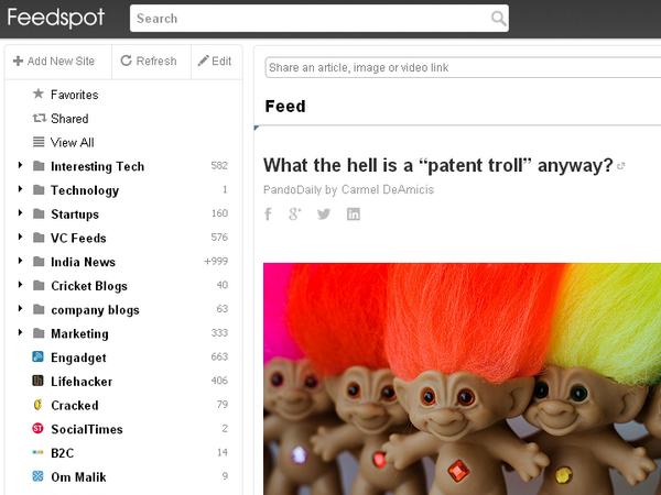 訂閱 RSS 以及發掘資訊的另一個選擇:FeedSpot