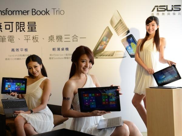 變形筆電三合一,ASUS Transformer Book Trio TX201、T100、T300 上市登場