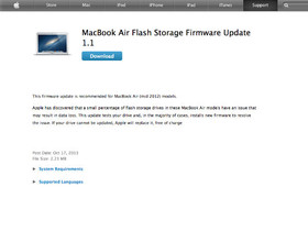 Macbook Air 2012 年中版爆出現部分 SSD 問題,請更新韌體檢查