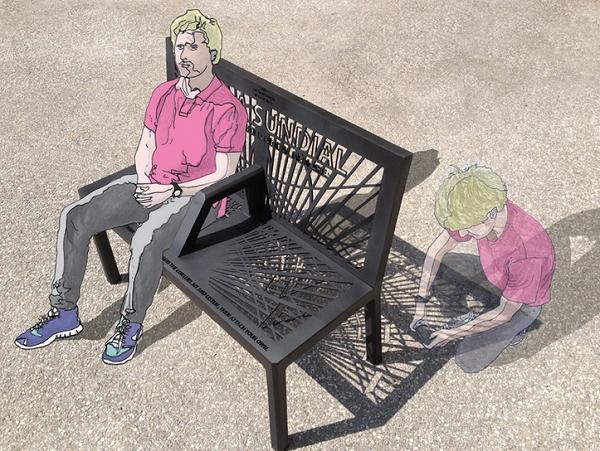 把回憶存在長凳的影子裡!只要有同樣的陽光和角度,別人也可以讀到你的回憶