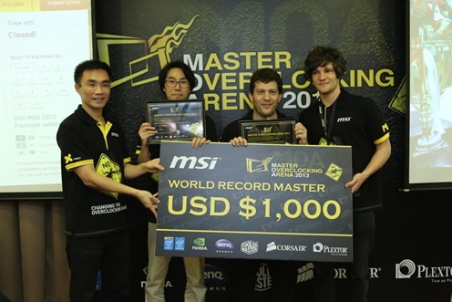 微星科技MOA 2013 全球極限超頻總決賽圓滿落幕