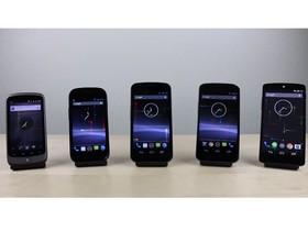 Nexus 五兄弟排排站,影片實測歷代機種效能差異