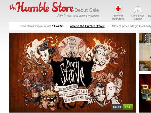 Humble Store 遊戲平台新登場,24 小時限定、天天最低 25 折