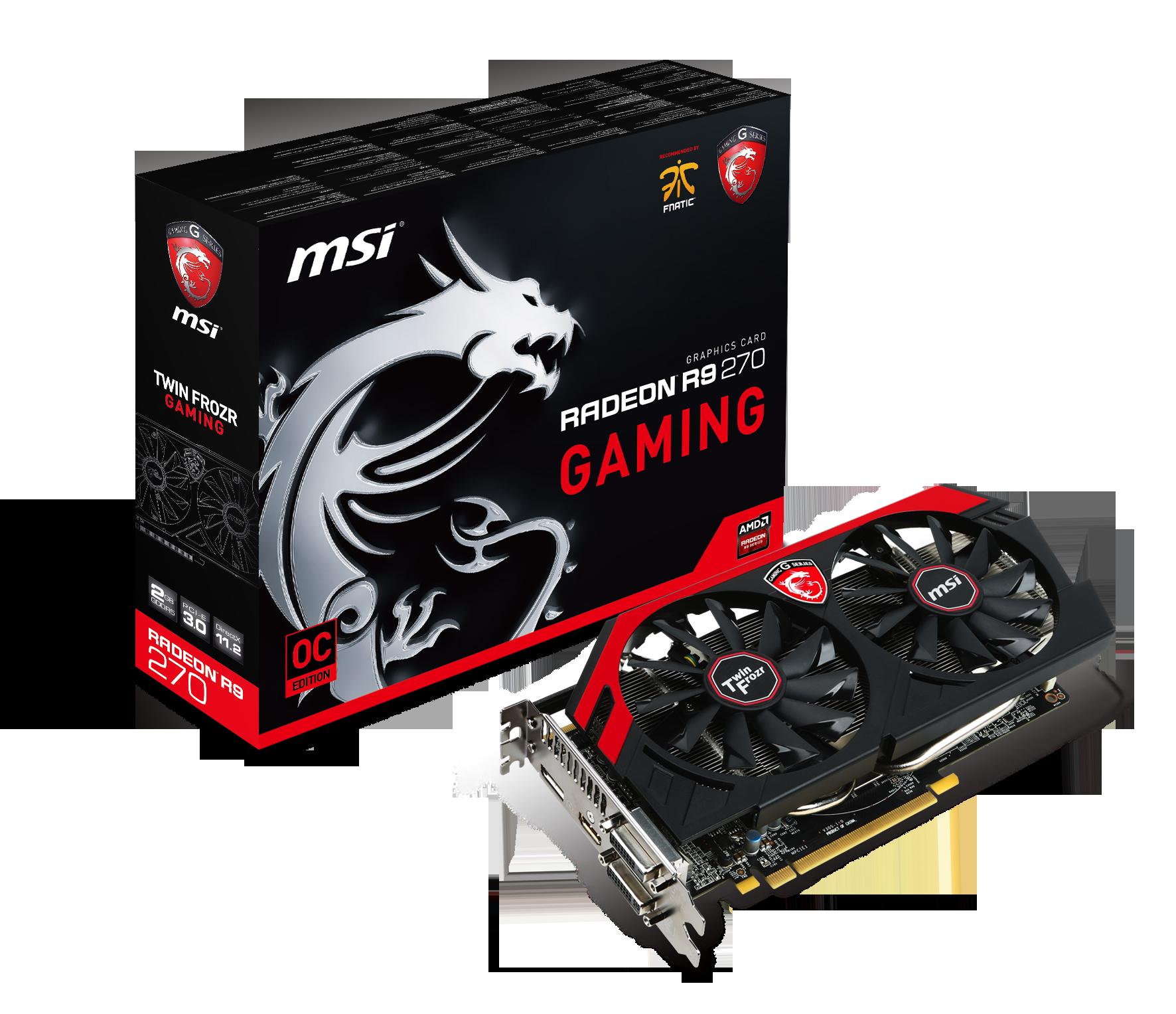 微星發布R9 270 GAMING 2G顯示卡,開創最佳遊戲環境 獨家GAMING APP調校軟體,輕鬆切換情境迅速又便利