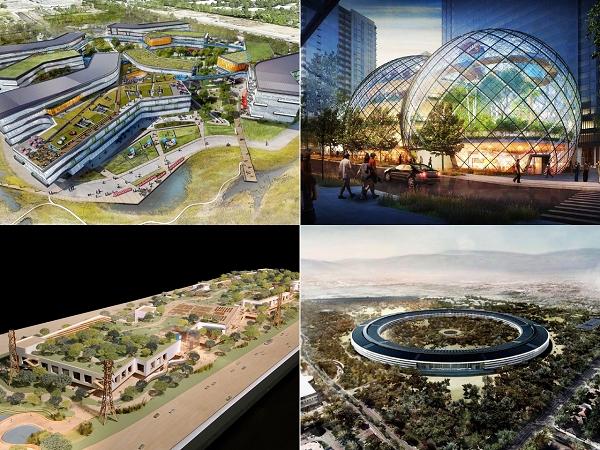 從 Apple 到 Amazon 興建的不僅是新總部也是彰顯科技統治地位的紀念館