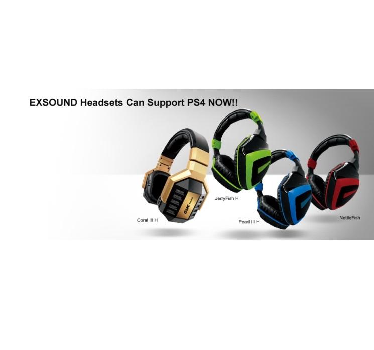 EXSOUND品牌耳機搶先支援PS4