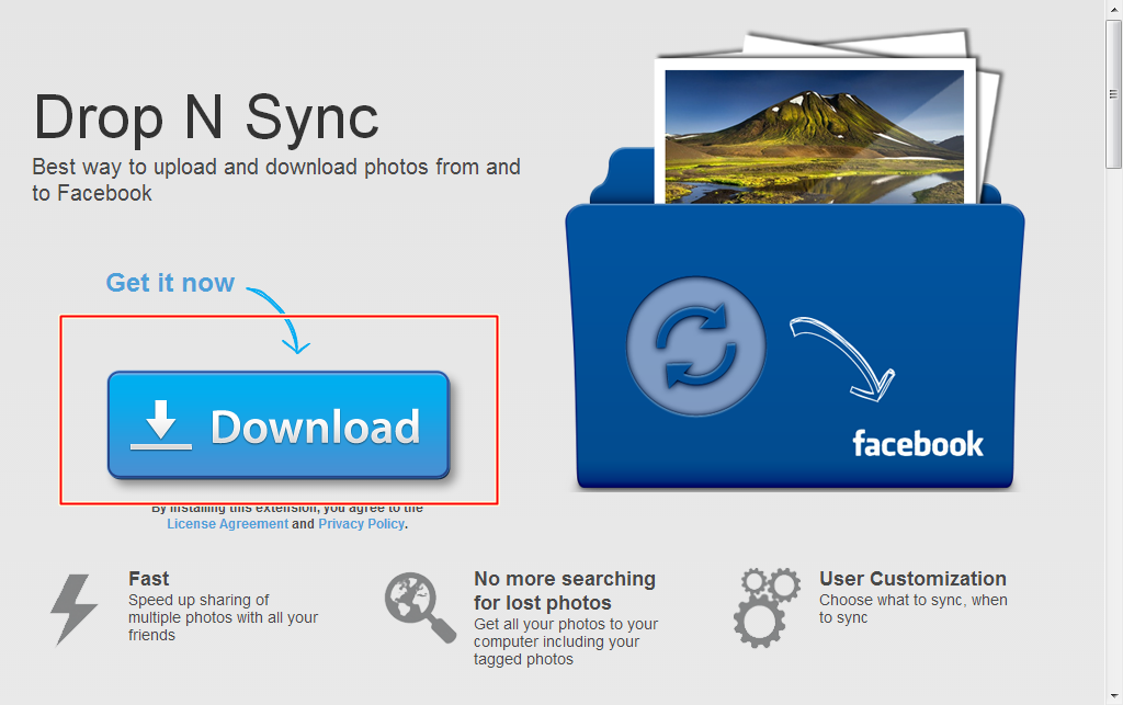 讓臉書照片輕鬆與 Dropbox 同步