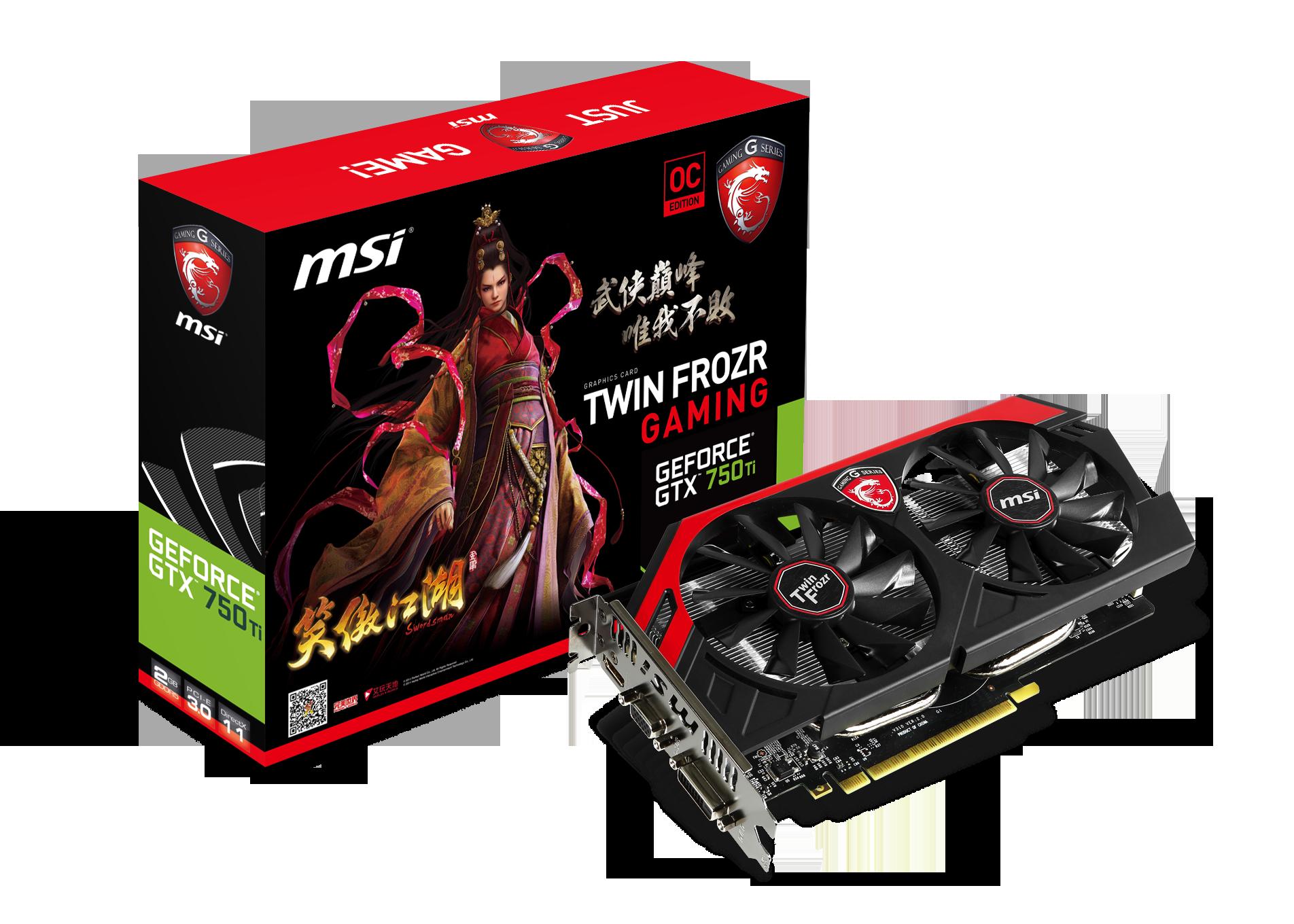 微星發布GTX 750Ti GAMING 及GTX 750 GAMING顯示卡 搭載最新NVIDIA Maxwell晶片,提供最佳遊戲環境