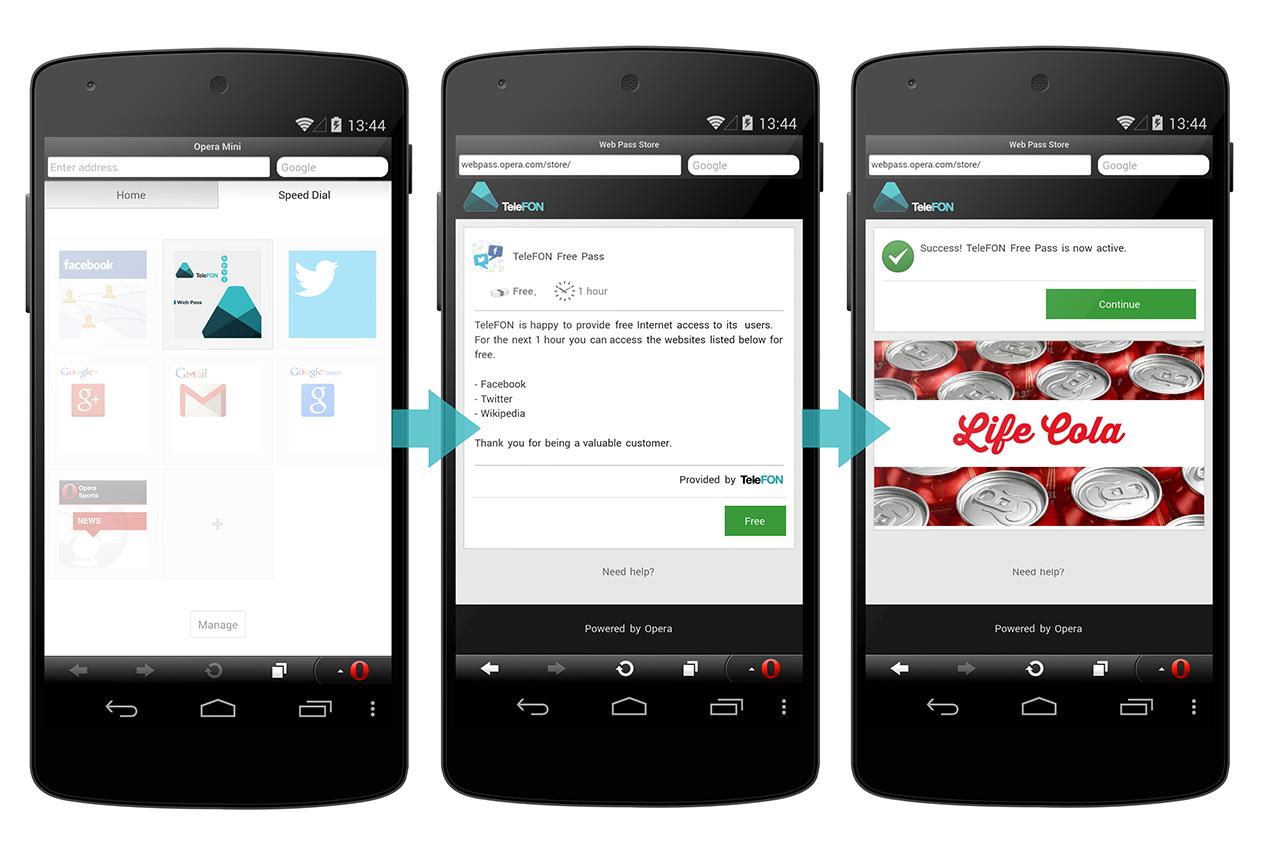 Opera 推看廣告就可免費行動上網