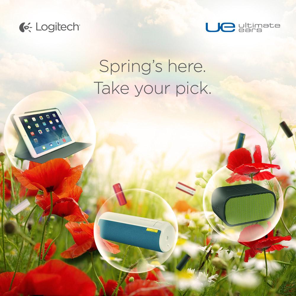 UE BOOM、UE MINI BOOM、羅技折疊保護組。多彩設計、亮麗配色、繽紛一整個美好春季