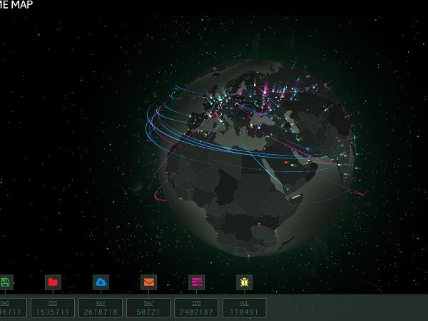 卡巴斯基網路威脅網頁上線,全球網路攻擊地點、類型即時看