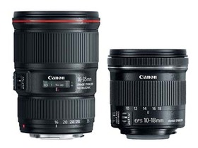 Canon 新鏡發表: 超廣角變焦鏡 EF 16-35mm F4L IS USM 和 EF-S 10-18mm F4.5-5.6 IS STM