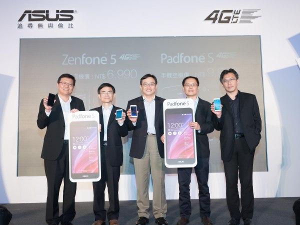 聚焦4G!華碩LTE旗艦機皇PadFone S、 全民機王ZenFone 5 LTE  迎戰疾速飆網新世代