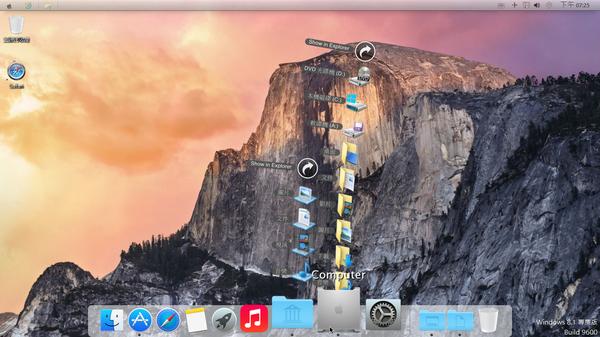 Windows 8 變臉改造 OS X 10.10