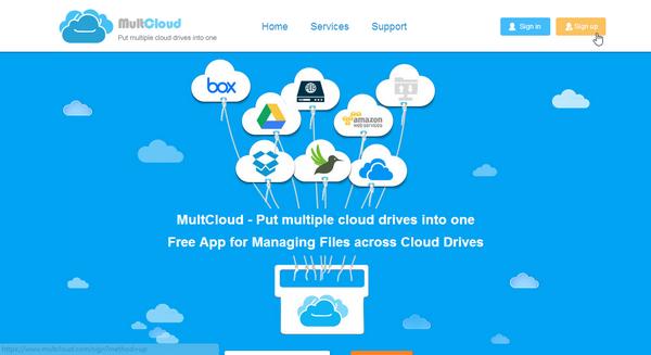 用MultCloud將雲端硬碟大串聯