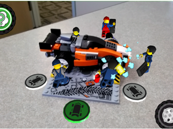 LEGO 使用高通 Vuforia 行動視覺平台, 讓積木能在擴增實境裡動起來