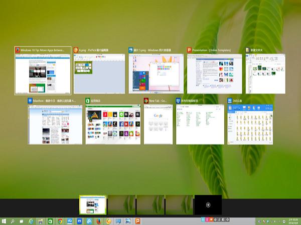 Windows 10 裝機實測:搞懂 多重虛擬桌面 與 任務視窗的切換邏輯