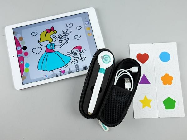 台灣開發,專為孩童設計,可到處吸顏色塗鴉的觸控筆:萌奇筆 Mozbii