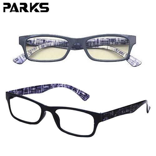 時尚男女 PARKS濾藍光眼鏡浪漫騎士(黑)-BL1301B-BK