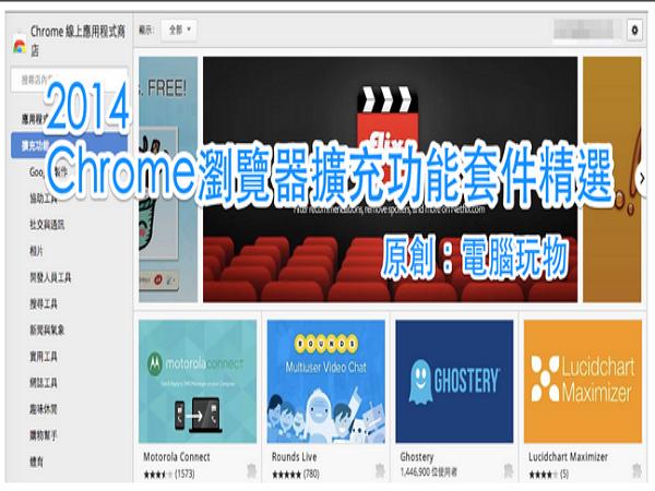 2014電腦玩物精選23款最高效率 Google Chrome 擴充功能