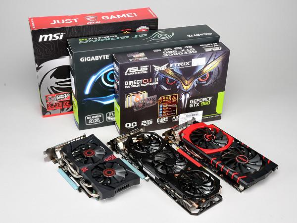 華碩、技嘉、微星 GeForce GTX 960 自製卡實測,硬體設計、效能表現各具特色