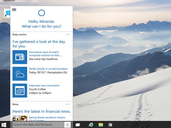 Windows 10 版 Cortana 語音助手實測,及研究微軟版的Google Now資訊卡片怎麼用?