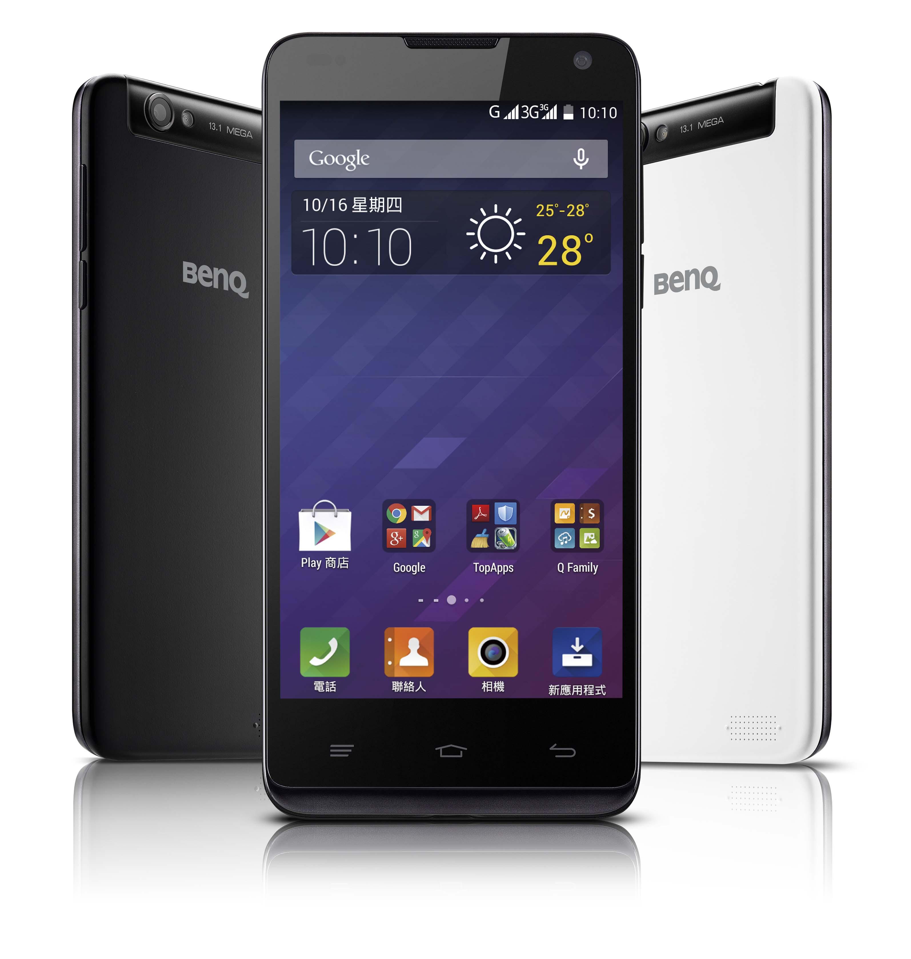 """BenQ 最新智慧型手機B502纖薄登場  雙卡雙待 美肌自拍 領""""纖""""自拍潮流"""